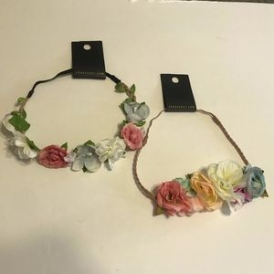 Forever 21 Bohemian Floral Rose Crown Headband NWT
